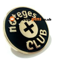 Promotional badge of a company.