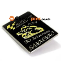 Motorcycle event pins.