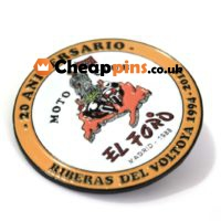 Cheap pins with your logo.