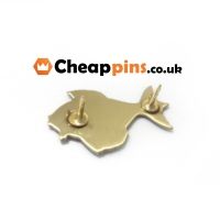 Fish printing custom pin.