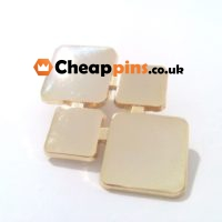 Lapel pins in gold finish.