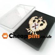 Plastic box for pins.