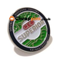 Security badges with promotional custom logo.